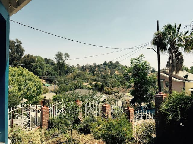 Surrounded by our lush, native species garden, lovely views of the hills and California's glorious year-round sunshine.