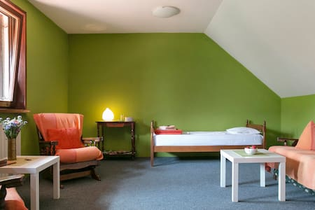 Spacious room with a green view - Belgrado