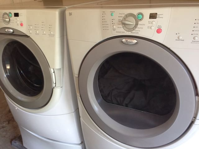 Washer and dryer available to guests.