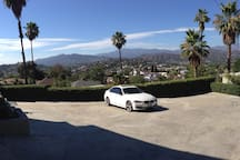 There's plenty of gated, parking spaces at the top of the driveway.