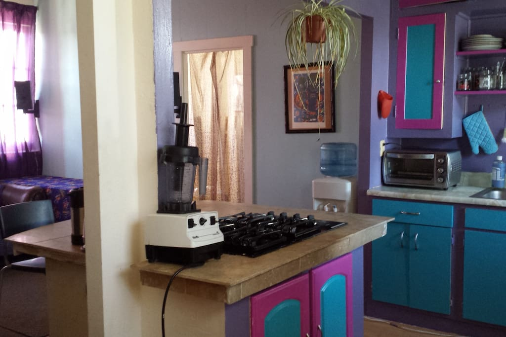 Fully furnished with kitchen and appliances.