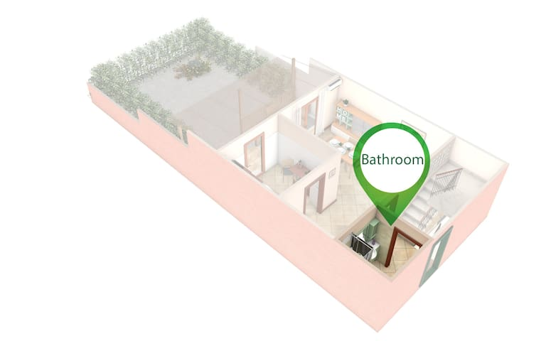 Bathroom1 on the groundfloor highlighted