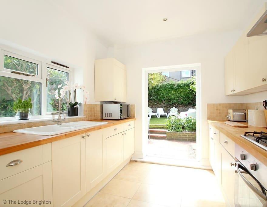 Kitchen through to garden