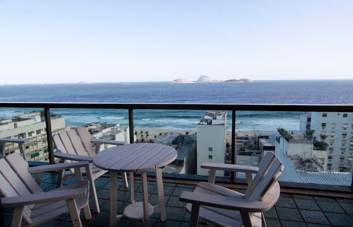Maravilhosa vista do mar Ipanema serviços garagem