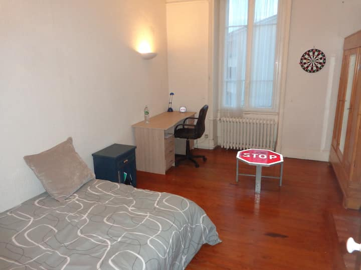 Chambre spacieuse à proximité du Rhone