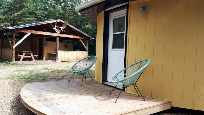 Yurt glamping Scandinavian Style