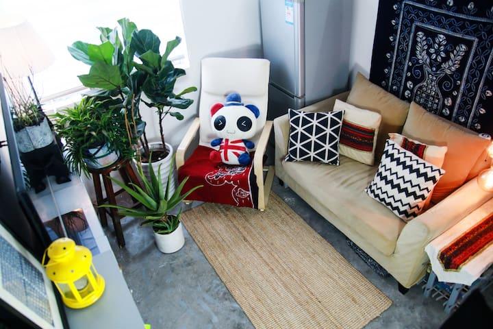 绿色清新的小公寓,临近白云机场的绝佳休息之所! - Guangzhou - Apartament