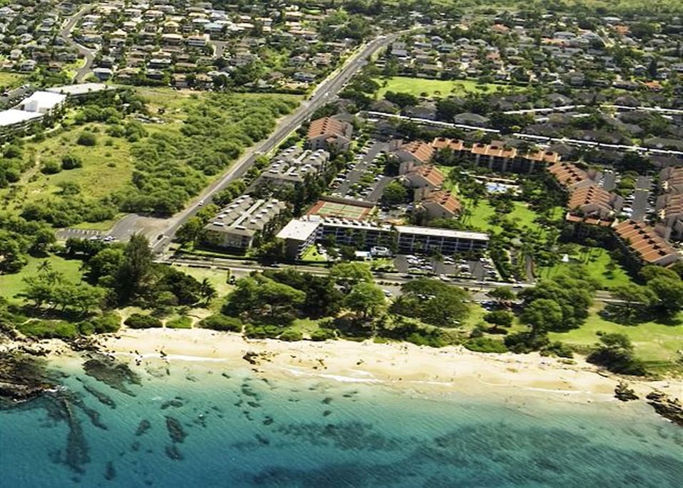 Aerial view of Kamaole Sands