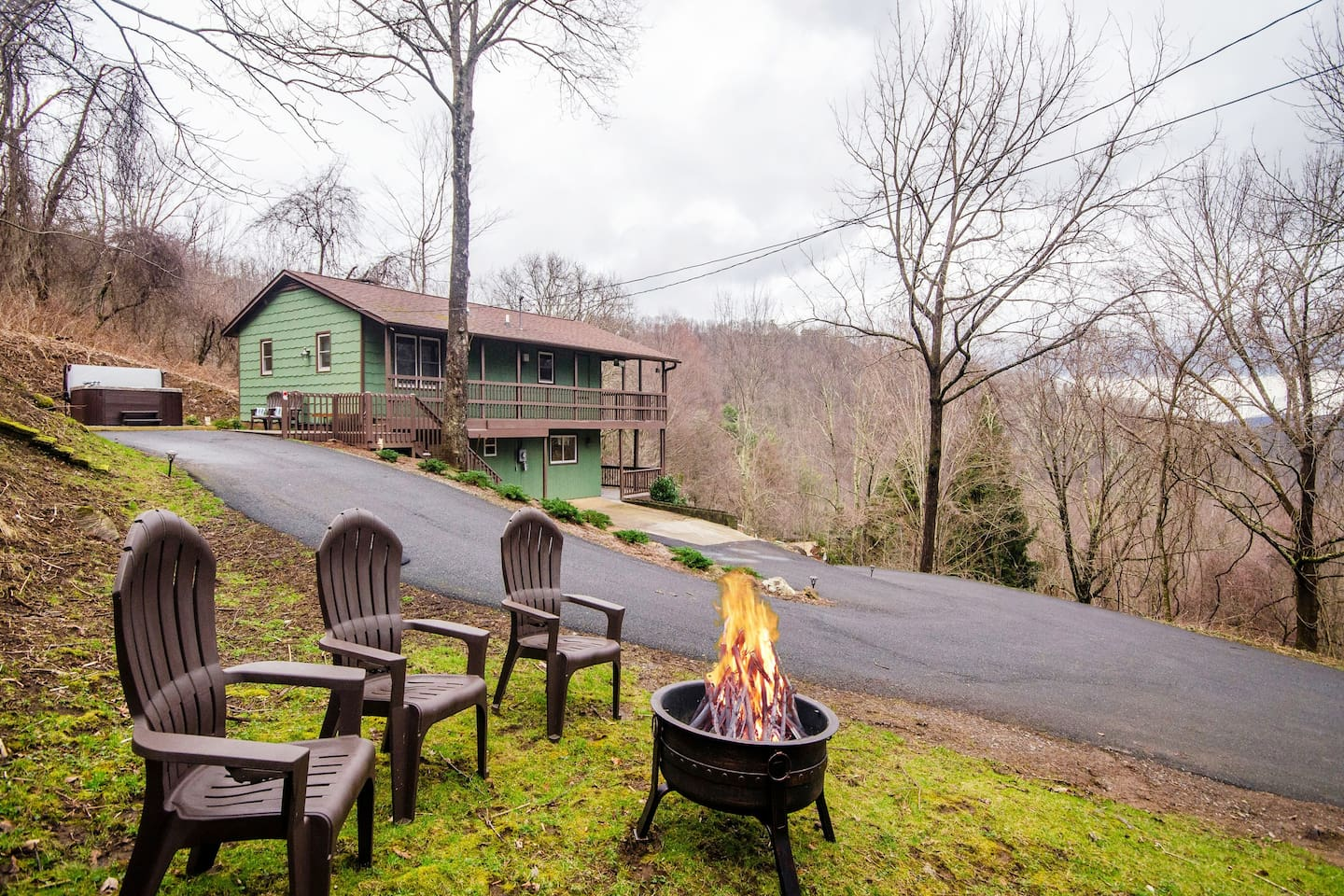 Enjoy the views while relaxing at the firepit