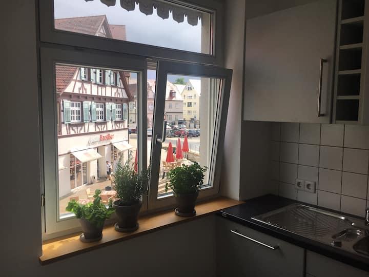 Geräumige, helle 2 Zimmerwohnung mit Freisitz direkt am Marktplatz