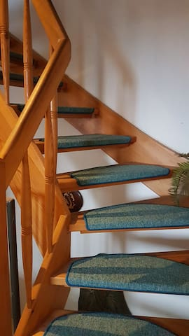 Staircase to the 2nd floor.
