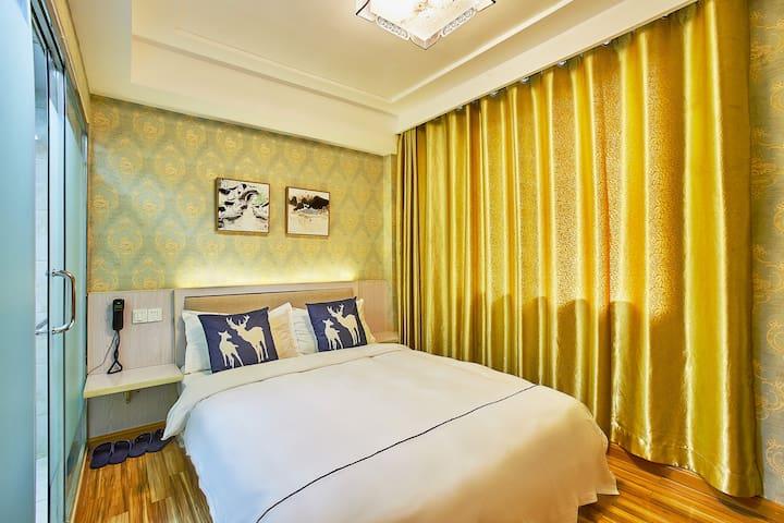 西湖•植物园•青芝坞•青禾民宿•简尚大床房