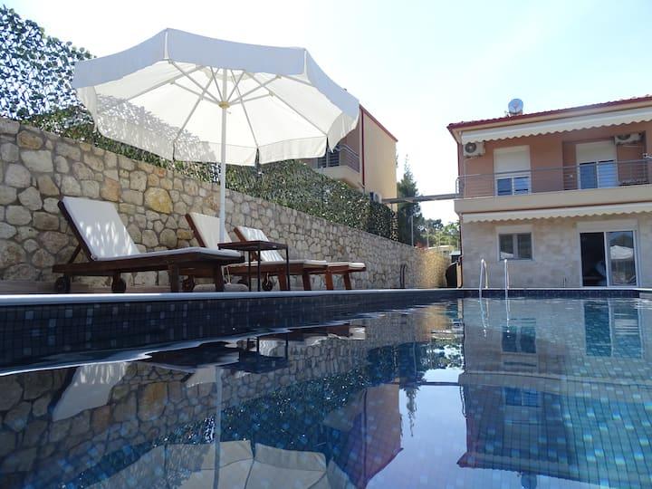 Private pool in Sani
