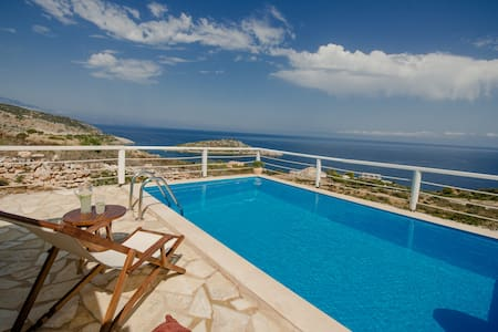 VILLA YRIA with private pool and sea view