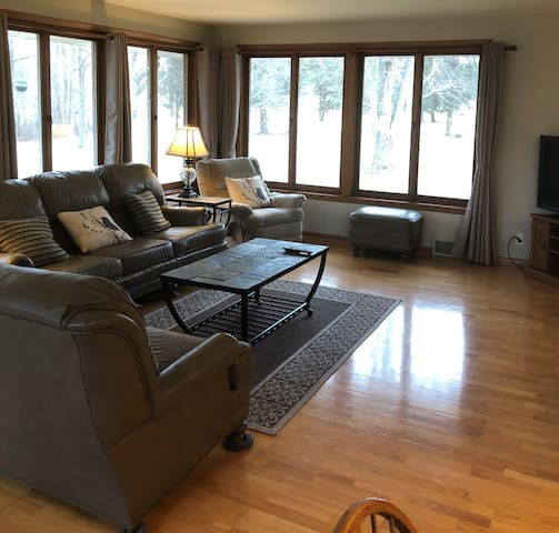 Large Family Room with TV