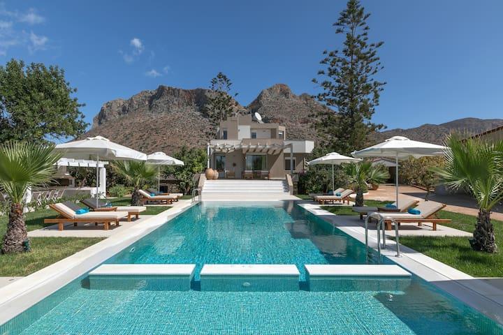 Asterion deep blue villa ville in affitto a stavros grecia for Sotto i piani di casa di 2000 piedi quadrati