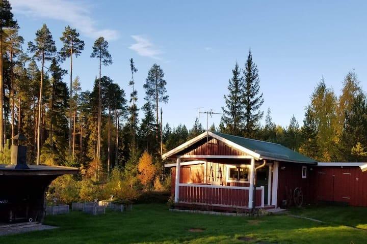 Stuga nära Mora vid Siljans strand