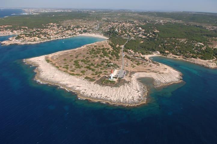 Bas de villa spacieux 4 pers à 300m plage au calme