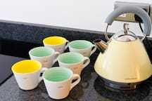 Kitchen new induction hob, Neff oven, modern appliances