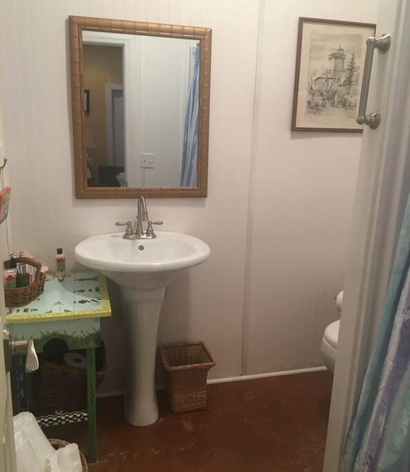 Fully set up bathroom