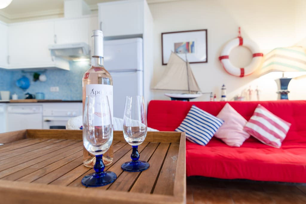 Nautical Style Lounge just perfect for a seaside Holiday