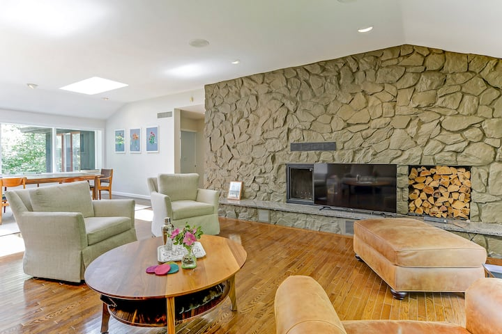 Midcentury Modern with Private Brook & Waterfall