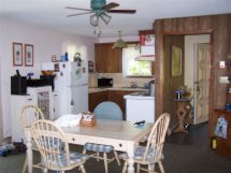 Fully functioning kitchen and dining room