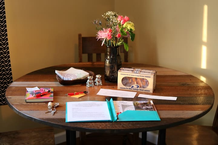 A personalized Welcome Packet with all the details and helpful tips along with spare keys waiting for you!