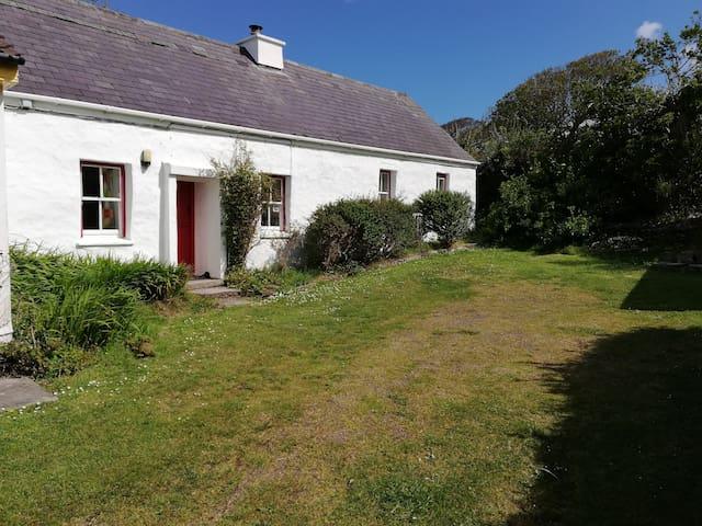 200 year old Irish cottage sea view