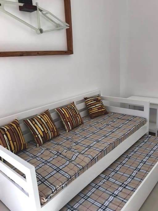 The living room. Sofa Bed with pull-out.