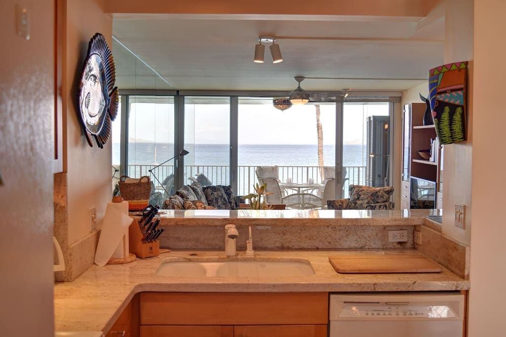 Spacious kitchen with lots of storage and granite countertops