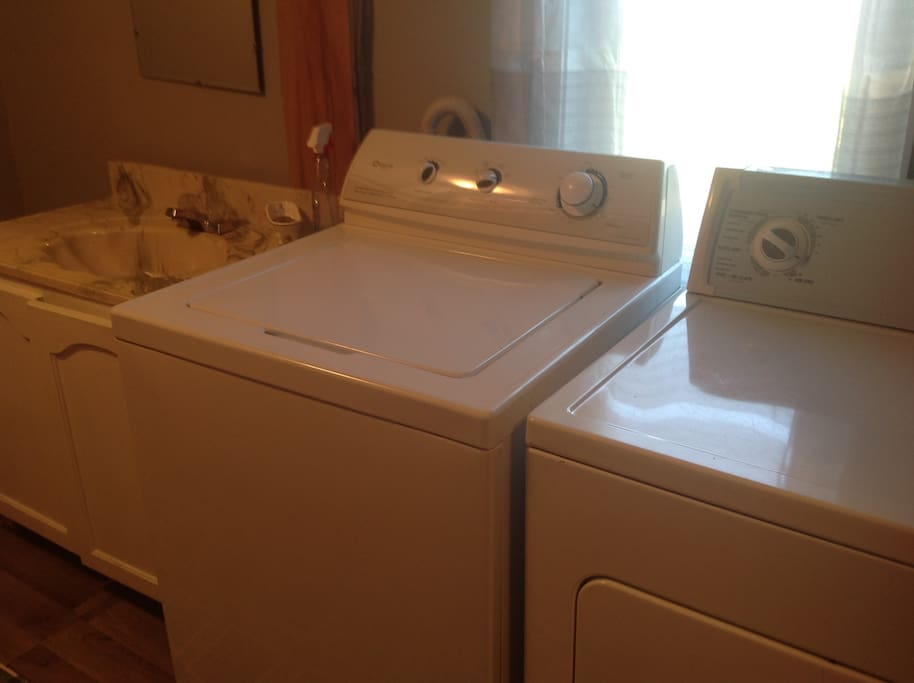 Washer and dryer with soap and bounce sheets
