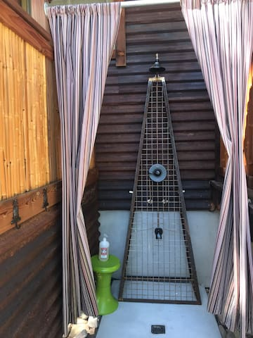 New outdoor (hot & cold water) shower