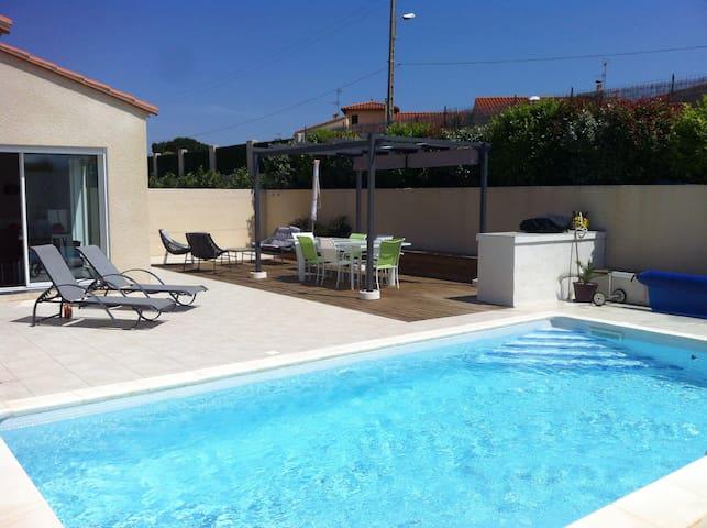 Villa climatisée 4ch piscine privée sécurisée - Ille-sur-Têt - Haus