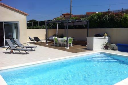 Villa climatisée 4ch piscine privée sécurisée - Ille-sur-Têt - 一軒家