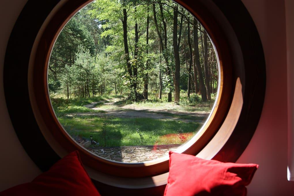 okrągłe okno