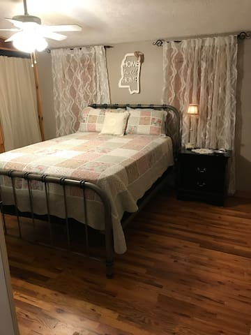 New queen bed with new mattresses that are super comfy!