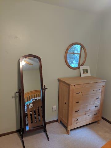 Dresser and full length mirror