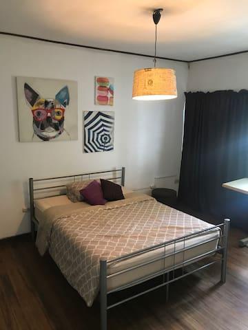 Bedroom in art and fashion neighborhood