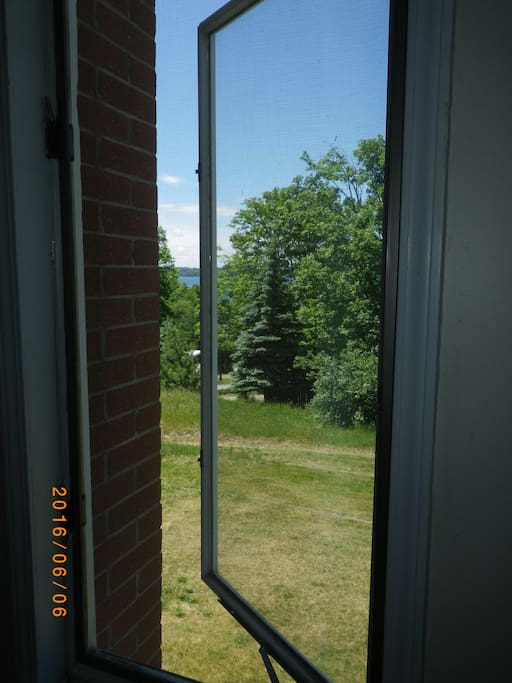 Torch lake from the living room