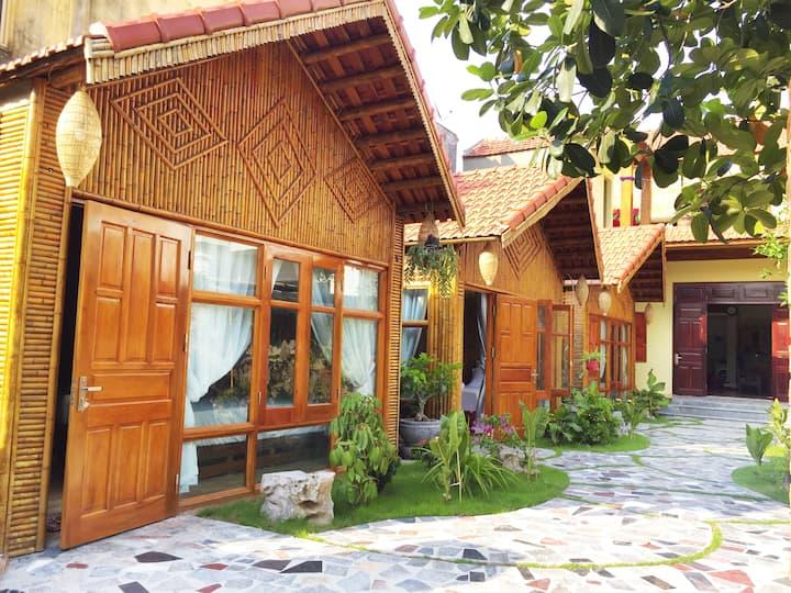Bungalow familial w/ garden view 5 m to Tam Coc