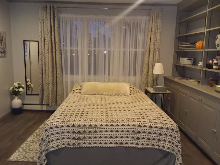 Private room in a home with separate entrance.