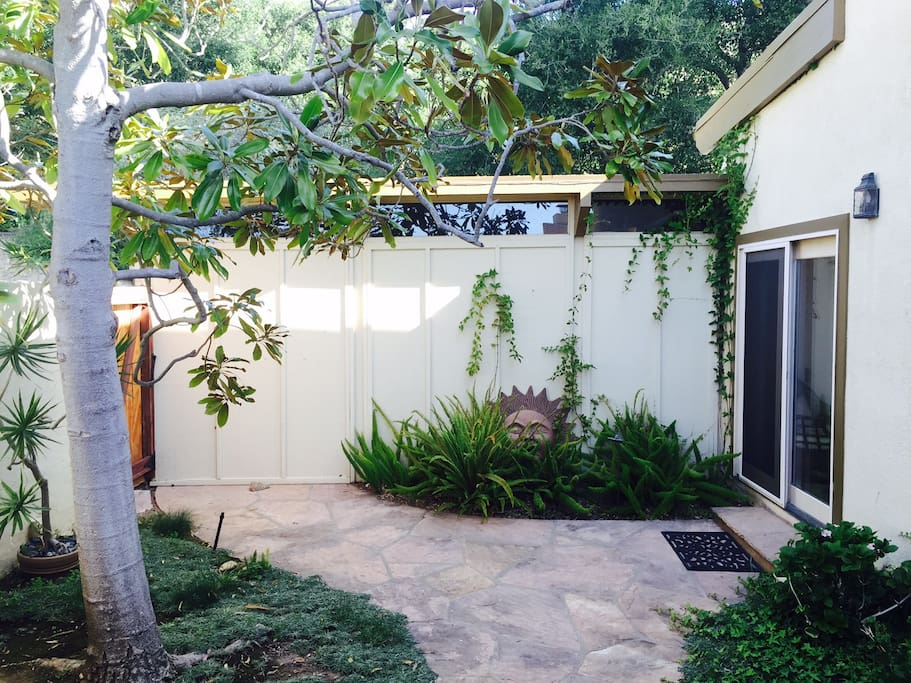 Private entry courtyard.