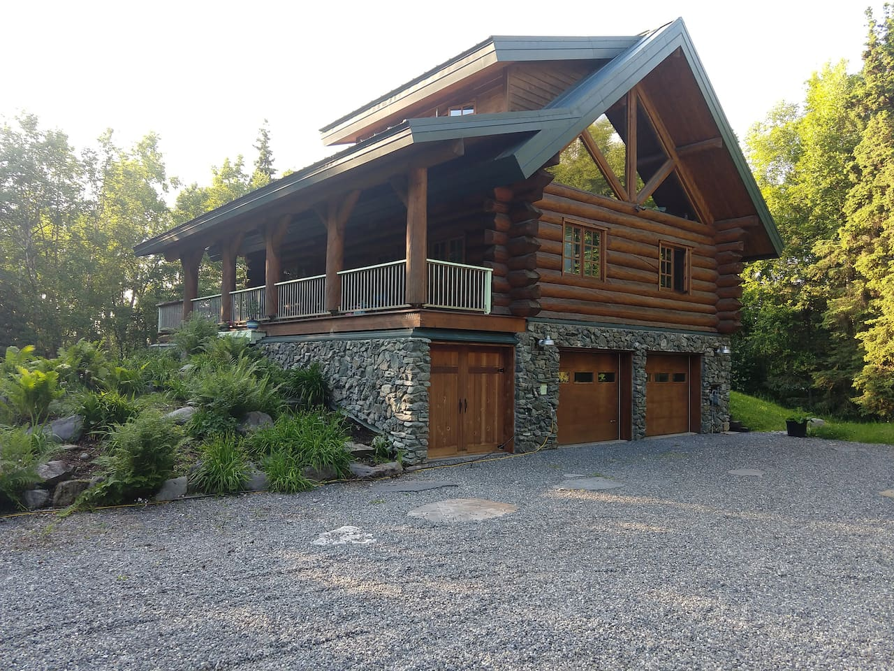 Log house in the woods