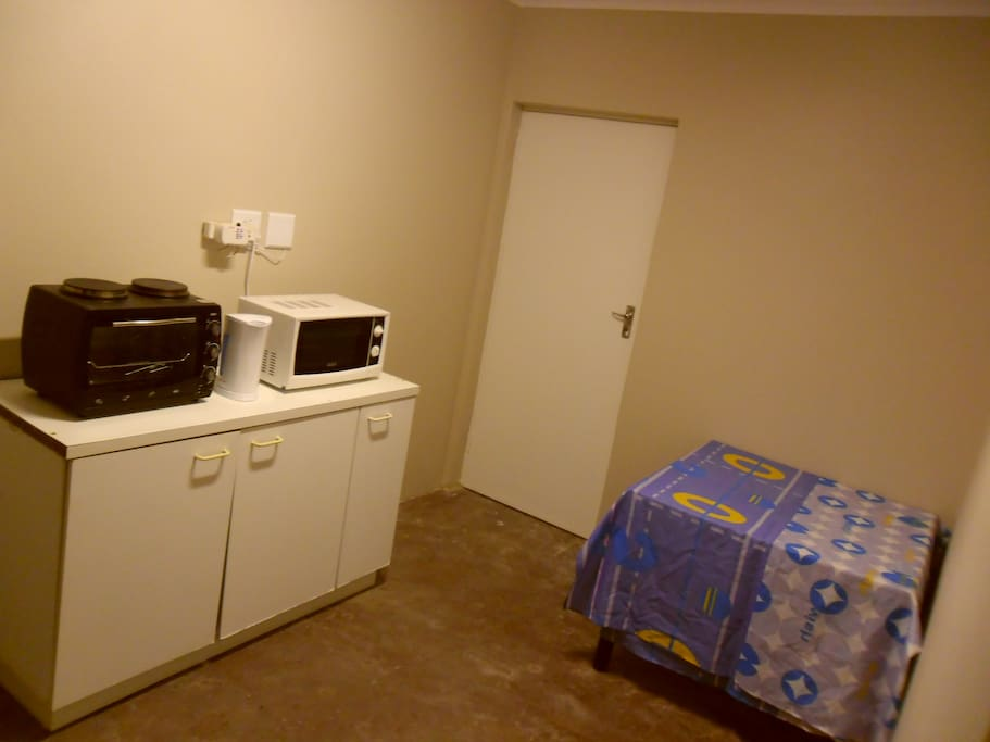 Kitchenette, functional and still being worked on...