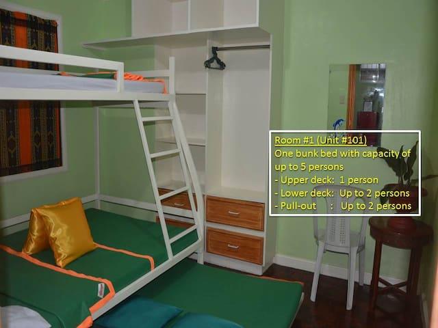 Budget Room for 5 in City Proper/Condo 101-1/Fiber