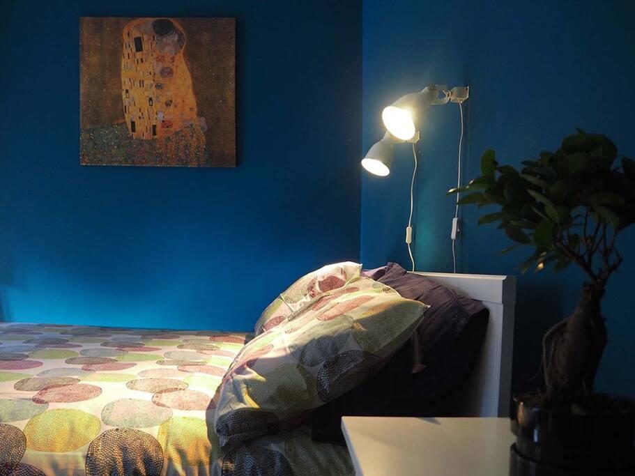 La stanza blu del B&B Arco Etrusco