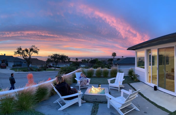 Family oasis with ocean views, short walk to beach