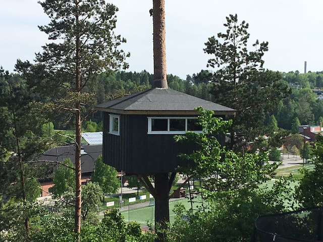 Vollen, Asker - Tree top house with veiw
