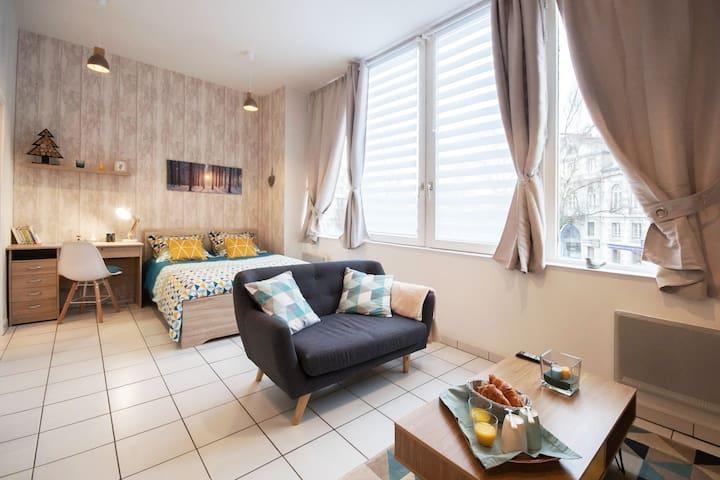 """Appartement """"Le Scandi-Cosy"""" Centre / Proche gare"""